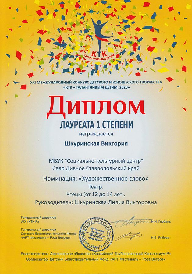 2020 КТК. Виктория Шкуринская